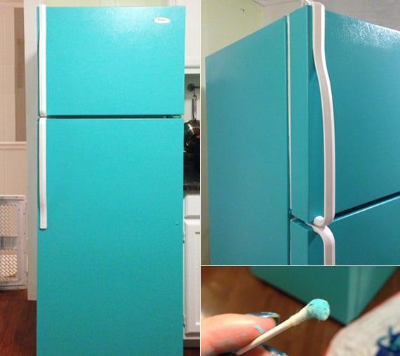 ideen für küchenrenovierung und kühlschrank streichen ideen