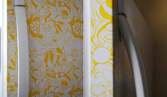 die k che mit retro k hlschrank in gelb ausstatten freshouse. Black Bedroom Furniture Sets. Home Design Ideas