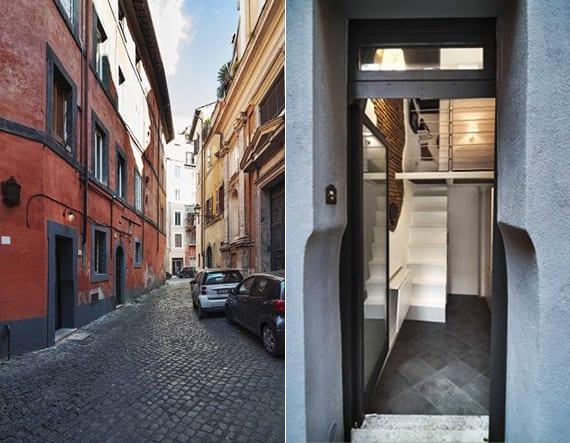 romantische unterkunft im historischen zentrum der italienischer hauptstadt als inspiration für modernes interior kleiner wohnung