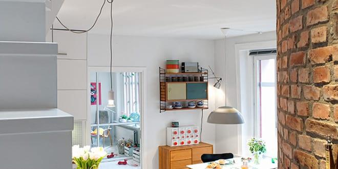 maisonette eine traumwohnung im skandinavischen stil mit offener k che wei und schmaler. Black Bedroom Furniture Sets. Home Design Ideas