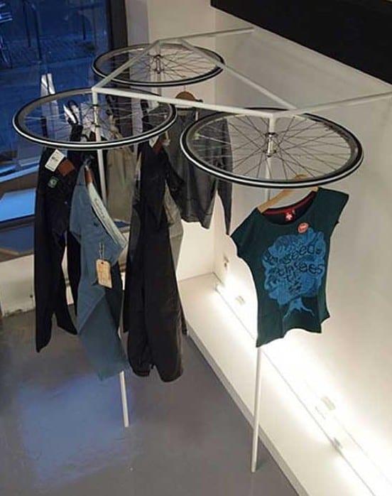diy Wäscheständer aus fahrradfelgen_coole bastelideen für zuhause