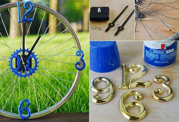fahrradfelge verwerten und als diy wanduhr basteln