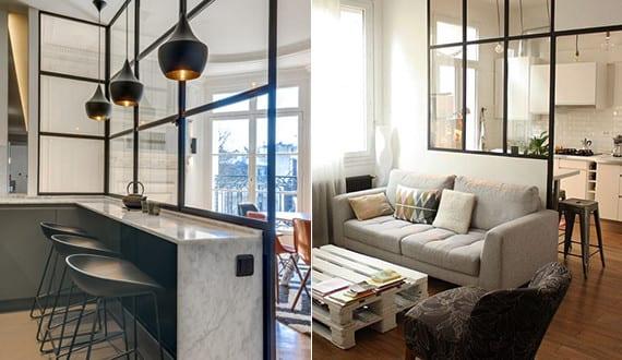 wie kann man die k che vom wohnesszimmer trennen coole wohnk che ideen f r kleine wohnungen. Black Bedroom Furniture Sets. Home Design Ideas