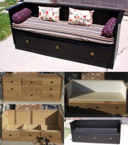 50 coole garten ideen f r gartenbank selber bauen aus holzregal mit schubladen freshouse. Black Bedroom Furniture Sets. Home Design Ideas