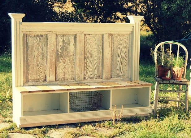 rustikale gartenbank selber bauen_tolle ideen für DIY gartenmöbel und möbel-Recycling