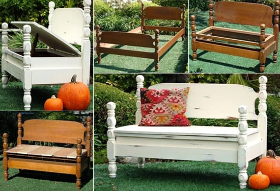 50 coole garten ideen f r gartenbank selber bauen freshouse. Black Bedroom Furniture Sets. Home Design Ideas