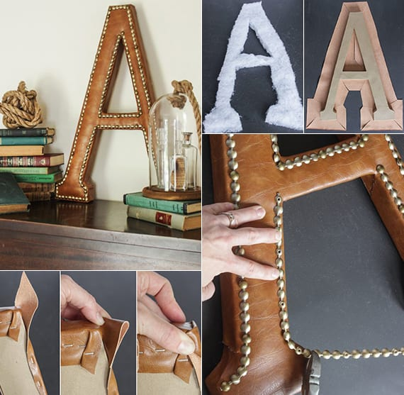 vintage dekoidee mit DIY Leder-Deko