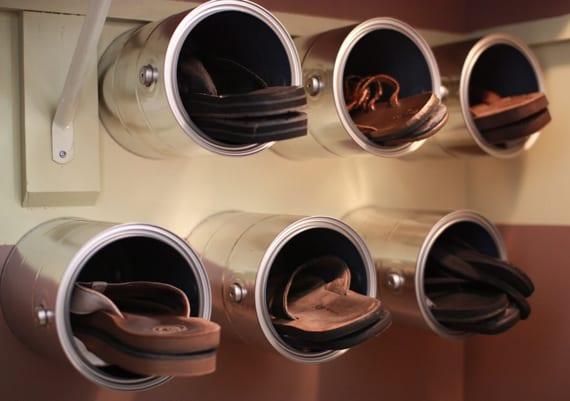 Schuhregal selber bauen rohre  Möbel Aus Rohren Bauen: Kleiderständer selber bauen » schwebende ...