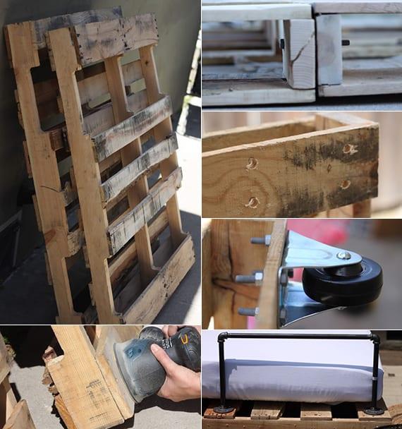 gartenbank und tagesbett aus paletten bauen