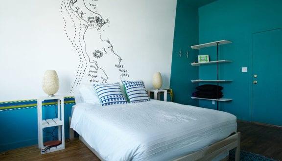 12 Ideen für Schlafzimmer Farben und originelles Schlafzimmer Design mit wandfarbe blau - fresHouse