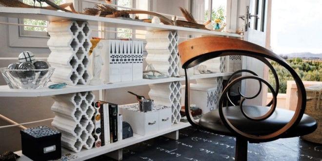 betonbl cke f r tolle diy m bel regal selber bauen aus wei en betonbl cken und holzplatten. Black Bedroom Furniture Sets. Home Design Ideas