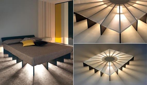 Modernes Bett Mit Beleuchtung Selber Bauen_coole Schlafzimmer Ideen Und  Beispiele Für Selbstgebautes Bett