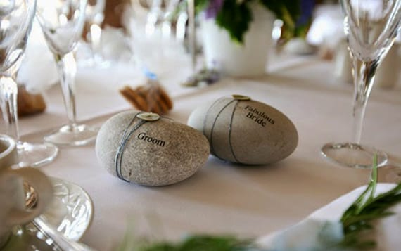 deko ideen mit steinen für hochzeit