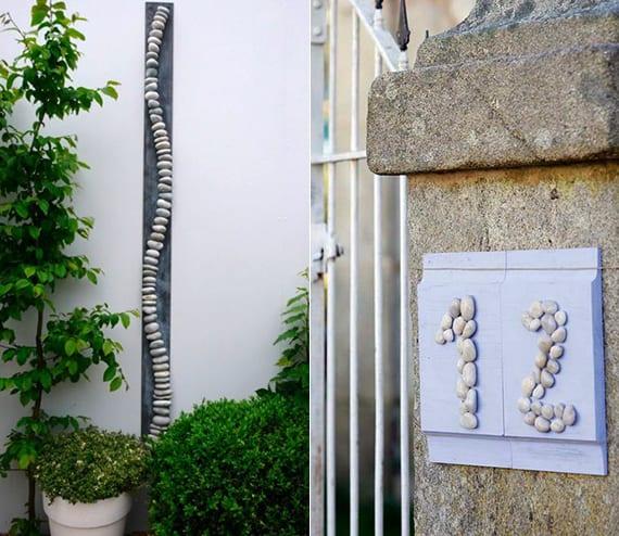 kreative gartendeko ideen mit steinen_hausnummer selber basteln aus steinen