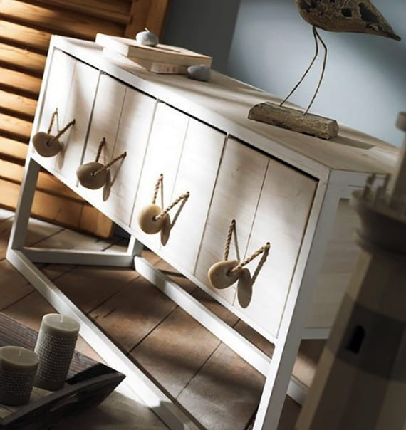 interessante raumgestaltung dekoidee fürs wohnzimmer mit holzregal weiß und diy steingriffe