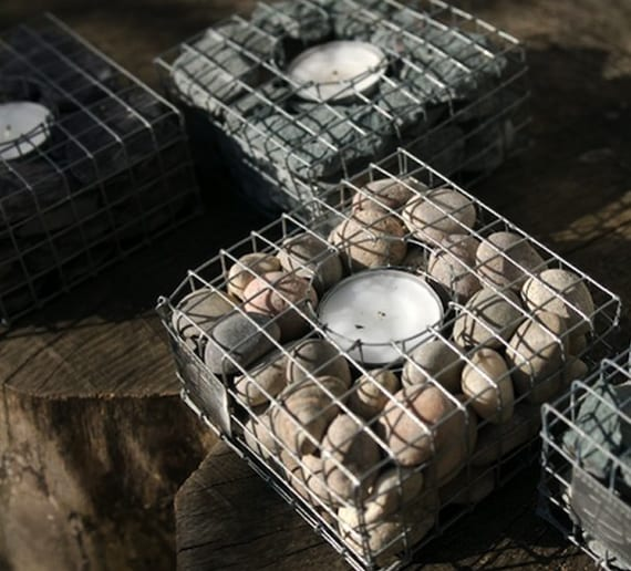 dekoidee mit diy gitterkorb-teelichthalter
