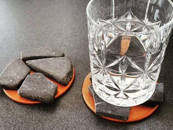 tisch eidecken mit diy glasuntersetzer mit flachen steinen