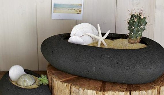 deko ideen mit steinen f r innen und au en interessante. Black Bedroom Furniture Sets. Home Design Ideas