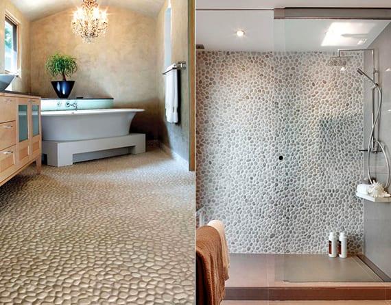 modernes badezimmer mit steinen