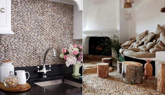 deko ideen mit steinen f r innen und au en wand und fu bodenbelag aus flu steinen freshouse. Black Bedroom Furniture Sets. Home Design Ideas