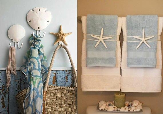 DIY wandhaken mit muscheln und coole meeresster-deko im bad