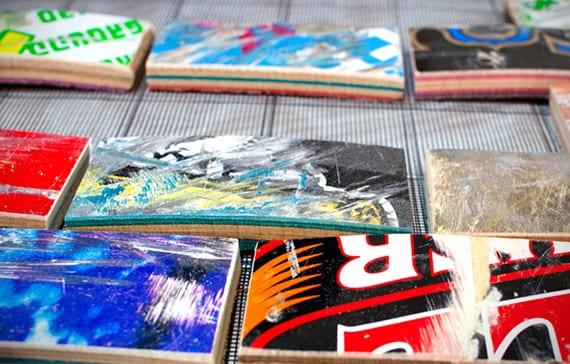 Flisenspigel und wand kreativ gestalten mit Design Fliesen aus recyclierten Rollbrettern
