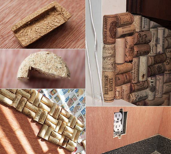 küchenrückwand mit weinkorken verlegen_toole idee für küchen