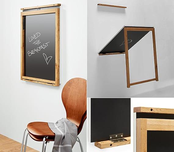 memoboard und klapptisch selber bauen_kreative wanddeko und einrichtung für kleine küchen