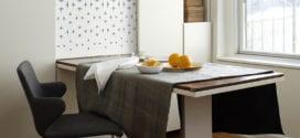 Enge und kleine Räume einrichten mit modernem Klapptisch