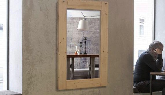 enge und kleine raeume einrichten mit modernem klapptisch klaptisch wand mit spiegel als coole. Black Bedroom Furniture Sets. Home Design Ideas