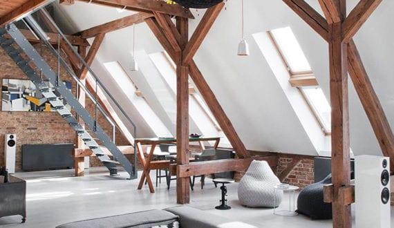 einrichtungsideen fuer dachgeschosswohnung die vorteile unterm dach zu wohnen freshouse. Black Bedroom Furniture Sets. Home Design Ideas