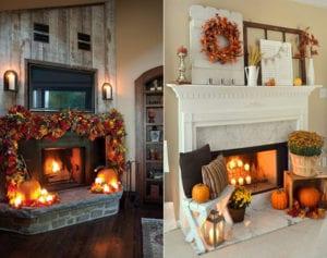 dekorieren mit kuerbissen moderne dekoideen fuer kamin. Black Bedroom Furniture Sets. Home Design Ideas