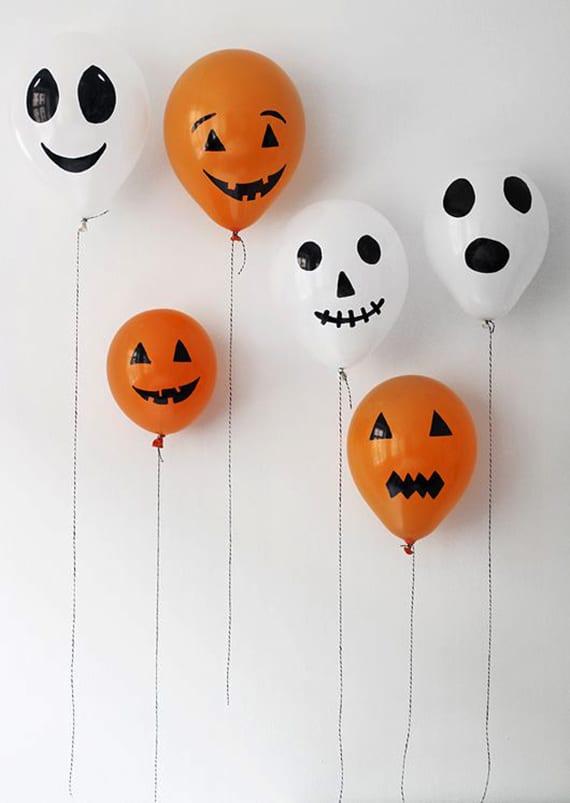 geister halloween in 5 minuten basteln mit luftballons