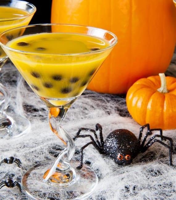 halloween cocktail rezept mit Cognac, Orangenlikör und und Orangensaft