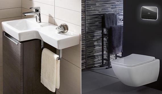 coole gästetoilette ideen mit raumsparenden badezimmermöbeln für kleines gäste wc