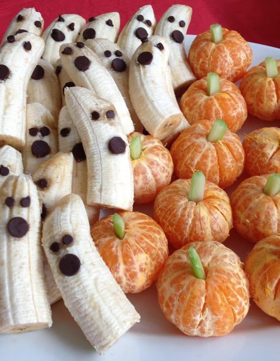 coole idee für kinder halloween essen mit Obst