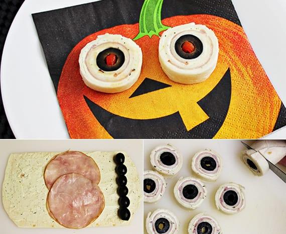 halloween rouladen mit tortilla brätchen für kinder halloween party