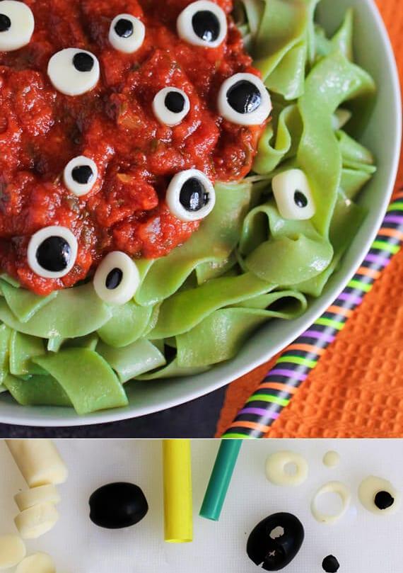 halloween rezept mit nudeln für Kinder Essen
