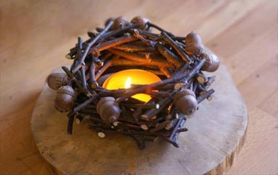 kreative herbstdeko basteln mit eicheln_diy kranz aus zweigen und eicheln