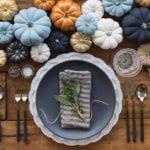 coole herbst deko ideen für festliche Tischdeko zu thanksgiving