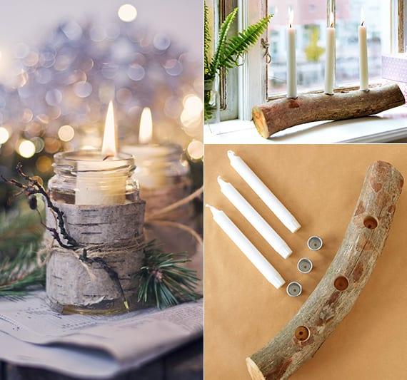 weihnachtliche fensterbank dekoideen mit kerzen für romantische atmosphäre im winter
