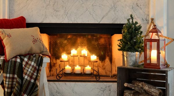 Kerzen Dekoideen für mehr Romantik in den kalten Wintertagen