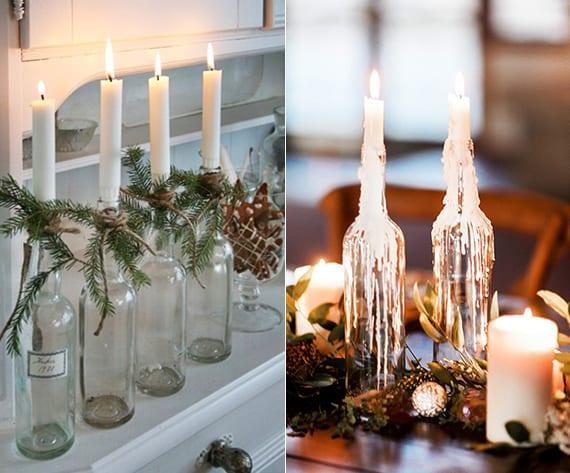 interessante und einfache kerzen deko ideen mit diy kerzenhalter aus glasflaschen