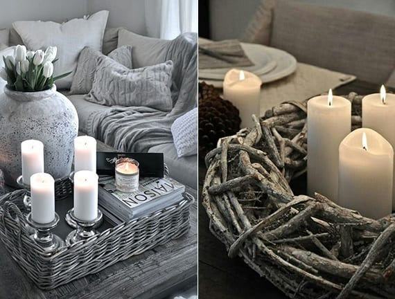 kerzen dekoideen f r mehr romantik in den kalten wintertagen freshouse. Black Bedroom Furniture Sets. Home Design Ideas