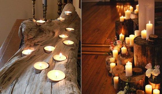 kerzen dekoideen fuer mehr romantik in den kalten. Black Bedroom Furniture Sets. Home Design Ideas