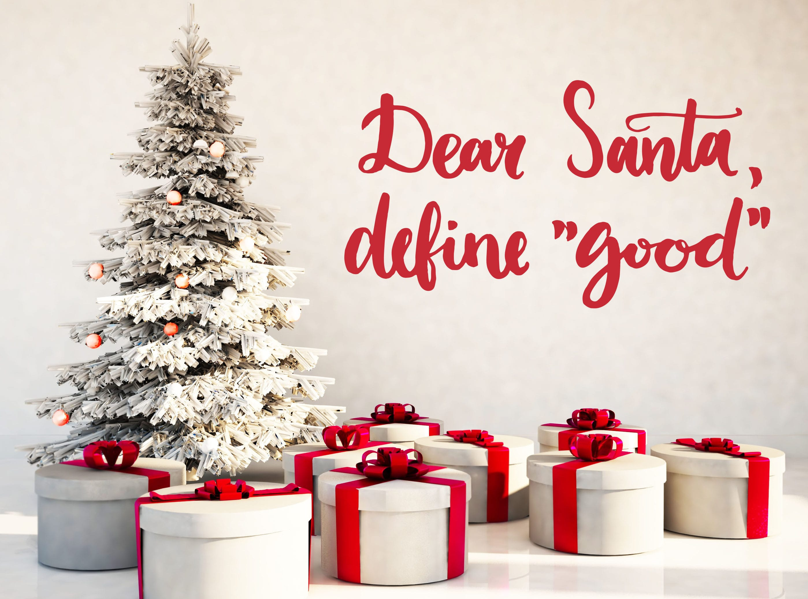 weihnachtliche dekoideen mit wandtattoo in rot