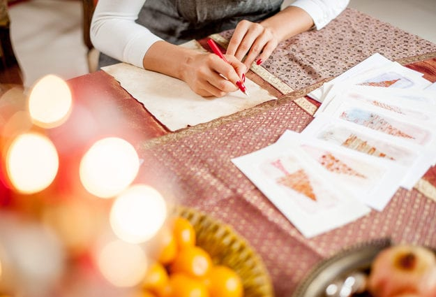Weihnachtskarten selbst gestalten kreative ideen mit stil - Weihnachtskarten mit kindern gestalten ...
