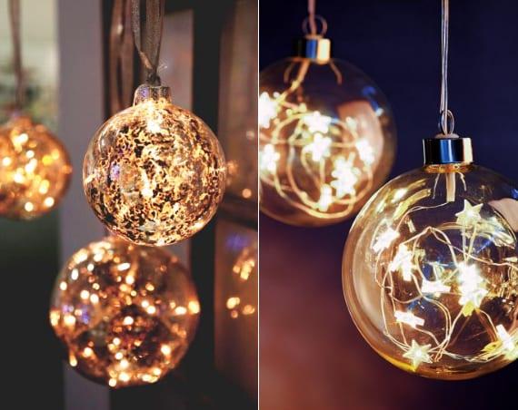 coole Weihnachtsdeko Ideen zur Weihnachtszeit mit LED-Weihnachtskugeln