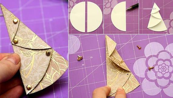 coole tannenbaum falten ideen aus papier als diy wintermotiv