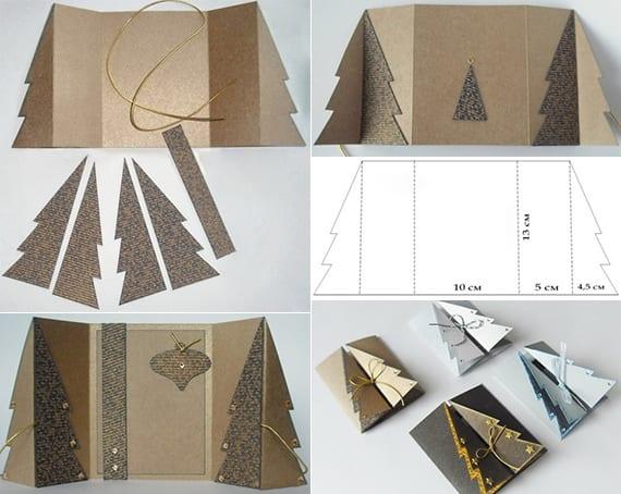 tannenbaum falten als coole weihnachtskarte